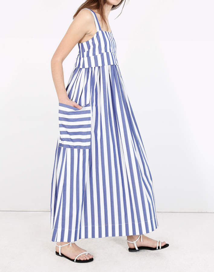 Madewell WHIT Striped Pocket Dress